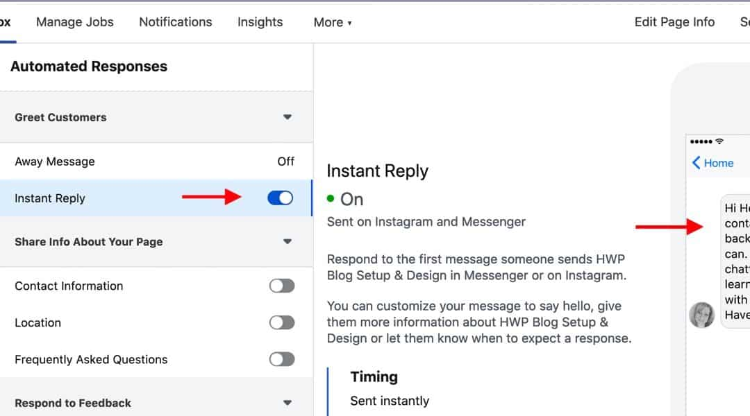 Create Instant Replies On Your Facebook Business Page